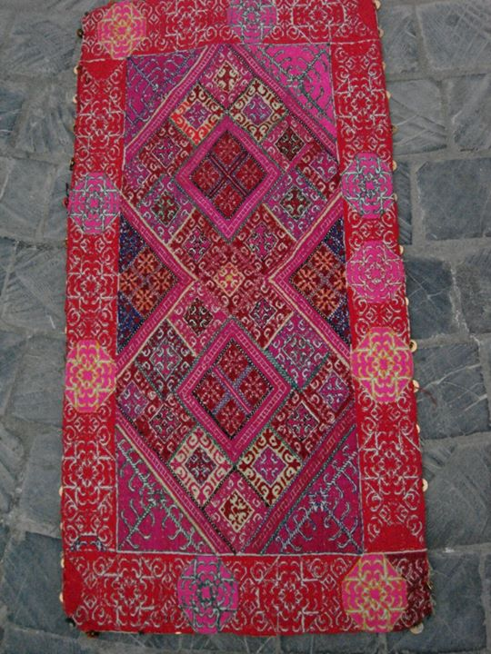Hand Embroidered Wall Hanging With Mirror Work Silvex Tribal